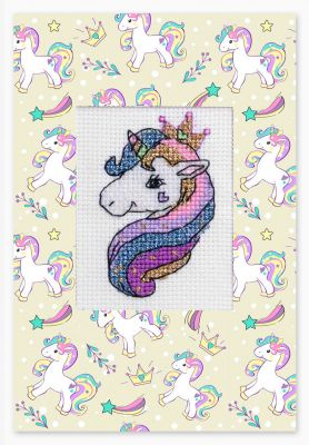 Фото - Набор для вышивания Luca-S (S)P-81 Набор для изготовления открытки Единорог набор для вышивания luca s s p 84 набор для изготовления открытки розовая магнолия
