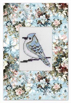 Фото - Набор для вышивания Luca-S (S)P-74 Набор для изготовления открытки Птичка набор для вышивания luca s s p 84 набор для изготовления открытки розовая магнолия