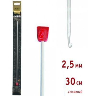 инструмент для вязания addi 262 7 2 5 30 крючок вязальный тунисский алюминий 2 5 30 см Инструмент для вязания ADDI 262-7/2.5-30 Крючок вязальный, Тунисский, алюминий, №2,5, 30 см