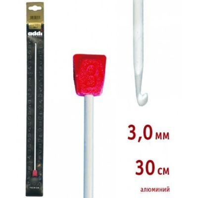 инструмент для вязания addi 262 7 2 5 30 крючок вязальный тунисский алюминий 2 5 30 см Инструмент для вязания ADDI 262-7/3-30 Крючок вязальный, Тунисский, алюминий, №3, 30 см