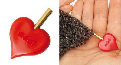 Инструмент для вязания ADDI 699-2/000 Наконечник для спиц в виде фирменного сердечка addiClick-HeartStopper