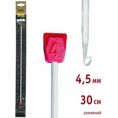 инструмент для вязания addi 262 7 2 5 30 крючок вязальный тунисский алюминий 2 5 30 см Инструмент для вязания ADDI 262-7/4.5-30 Крючок вязальный ,Тунисский, алюминий, №4,5, 30 см
