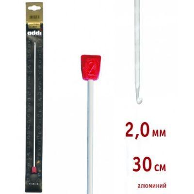 инструмент для вязания addi 262 7 2 5 30 крючок вязальный тунисский алюминий 2 5 30 см Инструмент для вязания ADDI 262-7/2-30 Крючок вязальный, Тунисский, алюминий, №2, 30 см
