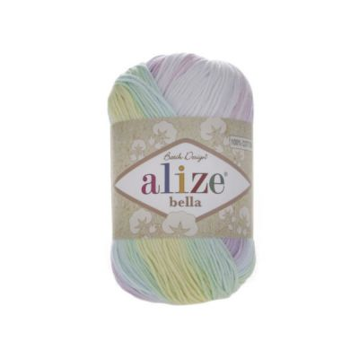 Пряжа Alize Пряжа Alize Bella Batik Цвет.2132 Радуга