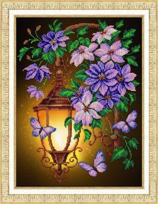 Набор для вышивания иконы Паутинка Б1295 Фонарик и клематисы (Паутинка) набор для вышивания иконы паутинка б720 св муч царица александра паутинка