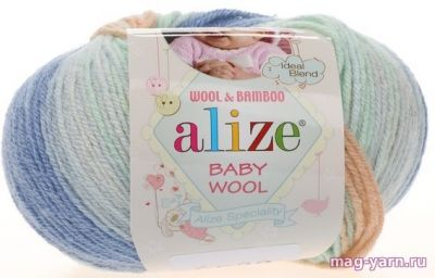 Пряжа Alize Пряжа Alize Baby Wool Batik Цвет.6539