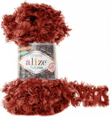 Пряжа Alize Пряжа Alize Puffy Fur Цвет.6118