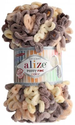 Пряжа Alize Пряжа Alize PUFFY FINE COLOR Цвет.6034
