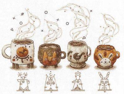 Электронная схема для вышивания Сделай своими руками Электронная схема для вышивания Хранители кофе