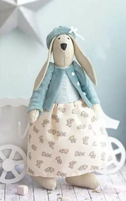 Набор для изготовления игрушки Арт Узор 2564778 Мягкая игрушка «Домашняя зайка Фанни», набор для шитья
