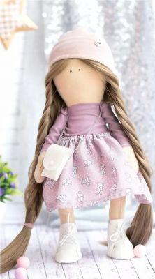 Набор для изготовления игрушки Арт Узор 2564784 Интерьерная кукла «Плюм», набор для шитья