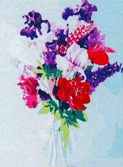 Фото - Набор для рисования по номерам Рыжий кот 5044785 Роспись по номерам на холсте 30 × 40 см, «Красочные цветы» коробка рыжий кот 33х20х13см 8 5л д хранения обуви пластик с крышкой