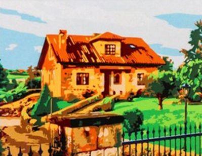 Фото - Набор для рисования по номерам Рыжий кот 5044671 Роспись по номерам на холсте 22 × 30 см «Красивый каменный дом» коробка рыжий кот 33х20х13см 8 5л д хранения обуви пластик с крышкой