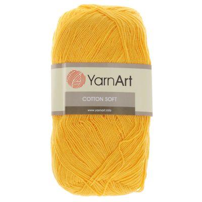 Пряжа YarnArt Пряжа YarnArt Cotton Soft Цвет.35 желтый