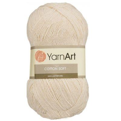 Пряжа YarnArt Пряжа YarnArt Cotton Soft Цвет.05 Кремовый