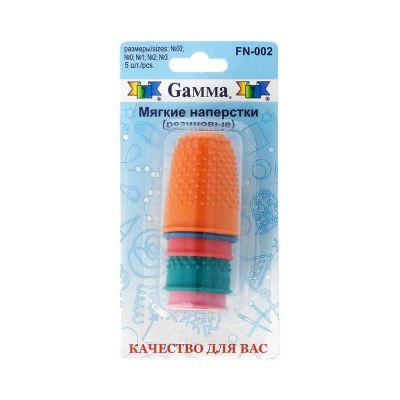 Игла Gamma FN-002 Наперсток для фелтинга в блистере 5 шт ассорти (размеры: №00; №0; №1; №2; №3)
