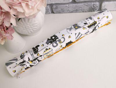 Ролл для вышивки Arapova A. Влюбленные коты, белый - ролл для вышивки