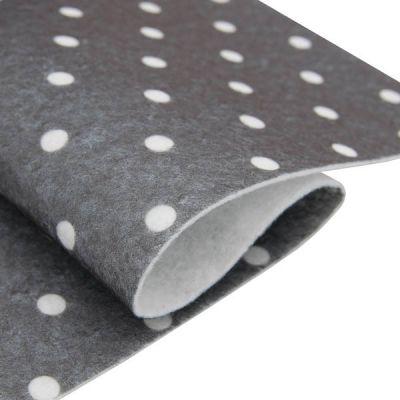 Ткань Астра Фетр листовой декоративный Горох Астра, (YF 699 т.серый)