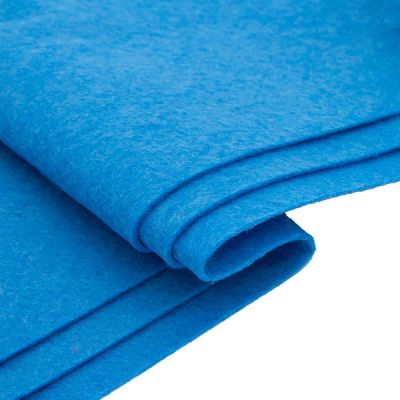 Ткань Астра Фетр листовой Астра, 1,0мм, 180 гр, 20х30см, 10 шт/упак (YF 683 голубой)