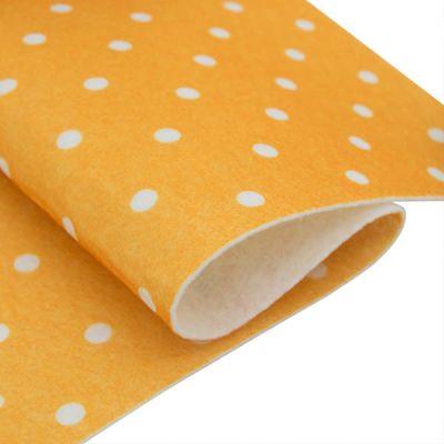 Ткань Астра Фетр листовой декоративный Горох Астра, 1,0мм, 180 гр, 20*30 см, 5 шт/упак (YF 640 желтый)