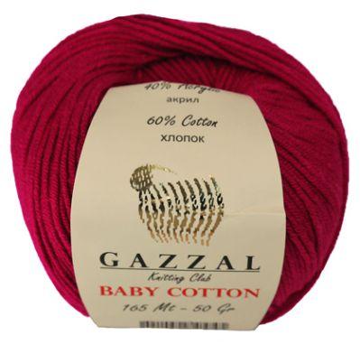 Пряжа GAZZAL Пряжа GAZZAL Baby Cotton Gazzal Цвет.3442