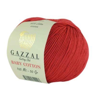 Пряжа GAZZAL Пряжа GAZZAL Baby Cotton Gazzal Цвет.3443