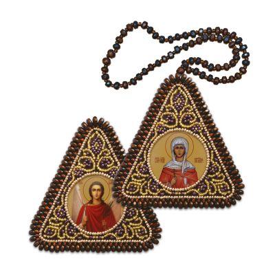Набор для вышивания иконы Nova Sloboda ТР1230 Св. Мц. Наталия и Ангел Хранитель