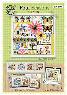 Основа для вышивания с нанесённым рисунком Soda SO-3146 Four Seasons<Spring>//Чотири сезони Весна