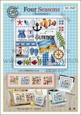 Основа для вышивания с нанесённым рисунком Soda SO-3147 Four Seasons <Summer>