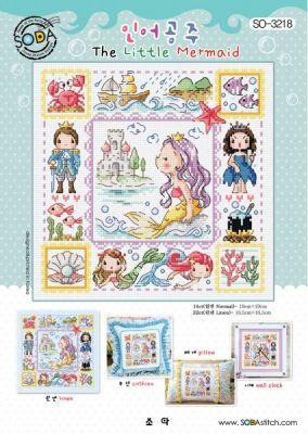 Основа для вышивания с нанесённым рисунком Soda SO-3218 The Little Mermaid//Русалочка