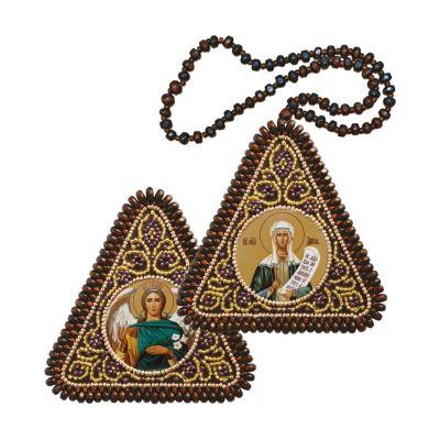 Набор для вышивания иконы Nova Sloboda ТР1213 Св. Мц. Дария (Дарья) и Архангел Гавриил