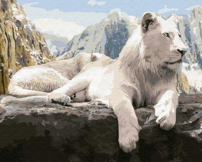 Набор для рисования по номерам Molly KD0660 Белый лев деревянное панно с зеркалом glambers