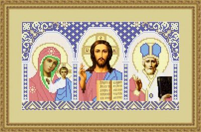 Набор для вышивания Матрёшкина АЮ2002 Иконостас (Николай Чудотворец)