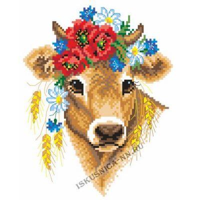 Набор для вышивания Искусница м8231 Корова в полевом венке