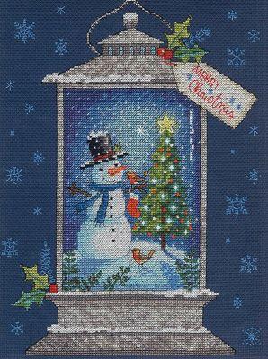 8987 DMS Фонарь снеговика
