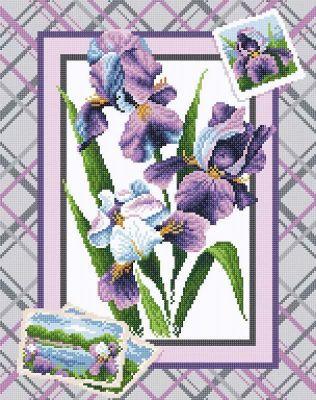 Набор для вышивания Brilliart МС-040 Букет ирисов