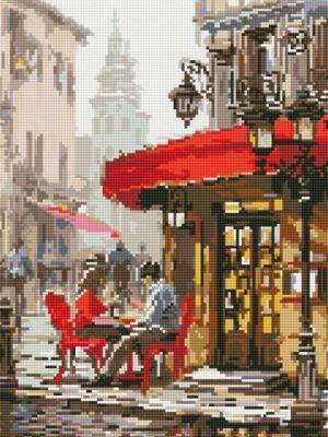 Набор для вышивания Цветной Алмазная вышивка lg126 Влюбленные в кафе