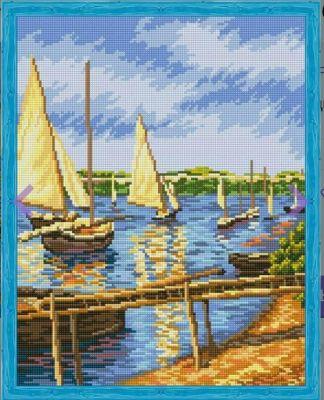 Набор для вышивания Цветной Алмазная вышивка qa202284 Парусные лодки