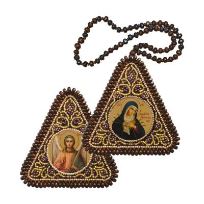 """ТР1015 Богородица """"Умягчение злых сердец"""" и Ангел Хранитель"""