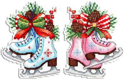 Фото - Набор для вышивания МП Студия Р-497 Фигурный Новый год (МП Студия) набор для вышивания мп студия р 346 бабушка яга