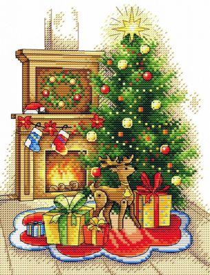 Набор для вышивания МП Студия М-565 Рождественский вечер (МП Студия) набор для вышивания мп студия м 354 снежная история