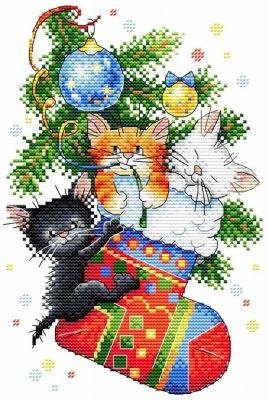 Набор для вышивания МП Студия М-563 Новогодний подарок (МП Студия) набор для вышивания мп студия м 354 снежная история