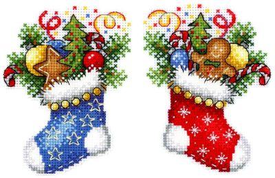 Фото - Набор для вышивания МП Студия Р-496 Новогодний носок (МП Студия) набор для вышивания мп студия р 346 бабушка яга