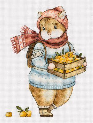 J-7137 Хомяк с мандаринами
