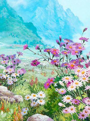 Набор для рисования по номерам Цветной lg182 Весенний луг