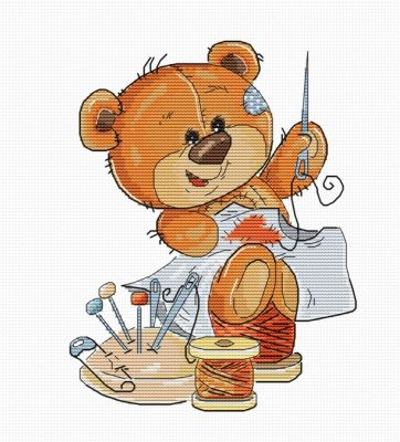 Набор для вышивания Luca-S B1180 Teddy-bear (Luca-S)