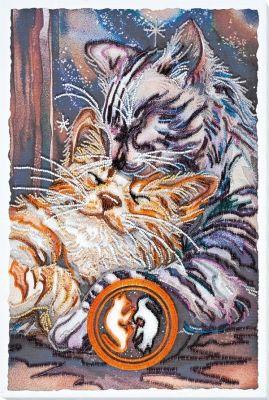 Фото - Набор для вышивания Абрис Арт АВ-751 Мурчание набор для вышивания абрис арт ав 687 чеширский кот