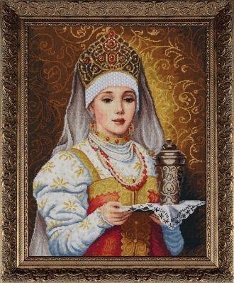 Набор для вышивания Золотые ручки МШ-001 Боярышня с подносом (ЗР)