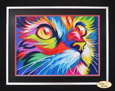 Фото - Набор для вышивания Tela Artis НТК-030 - Поп арт Кот - набор (Tela Artis) набор для вышивания tela artis нтк 030 поп арт кот набор tela artis