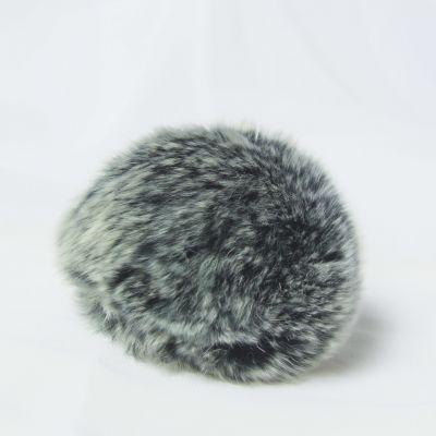 Помпон - Помпон D6-9 мех кролик Цвет.03 Т.серый